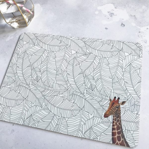 Yvonne Ellen Animal Placemats, Set of 4_Giraffe