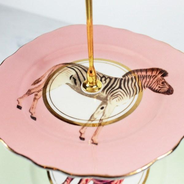 Yvonne Ellen Vintage Safari Animals Cakestand_Zebra
