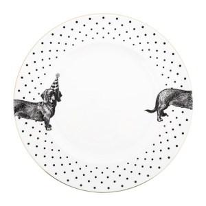 Yvonne Ellen Party Pup Dinner Plate
