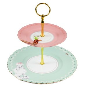 Yvonne Ellen Pretty Puppies 2 Tier Cake Stand