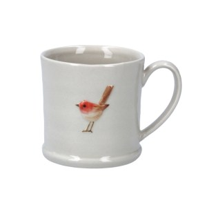 Gisele Graham Ceramic Mini Christmas Robin Mug