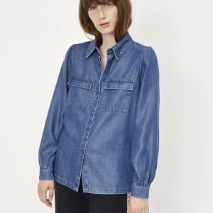 Cas Denim Shirt in Blue