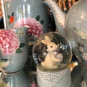 Easter Rabbit Snow globes