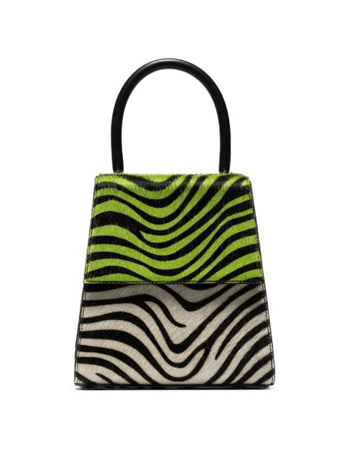Rixo Trapeze Zebra Print Handbag