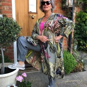 Kew Iris Grey Duster Coat