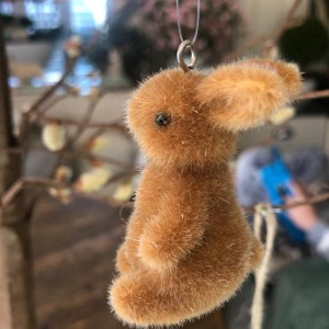 Hanging Brown Easter Rabbits