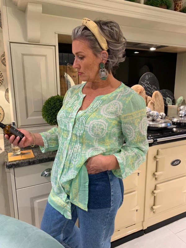 Patterned Cotton Tunic Top