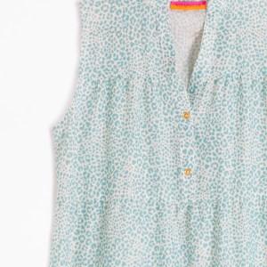 Vilagallo Vera Aqua Leopard Dress