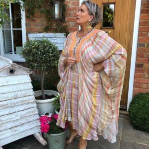 Kaftan Patterned Dress by Bl^nk London