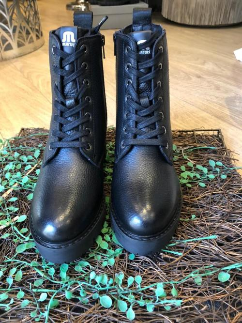 Maruti Lace up Boots in Black