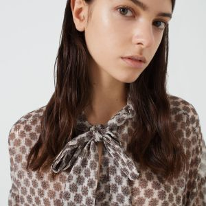 Patterned shirt in Cream