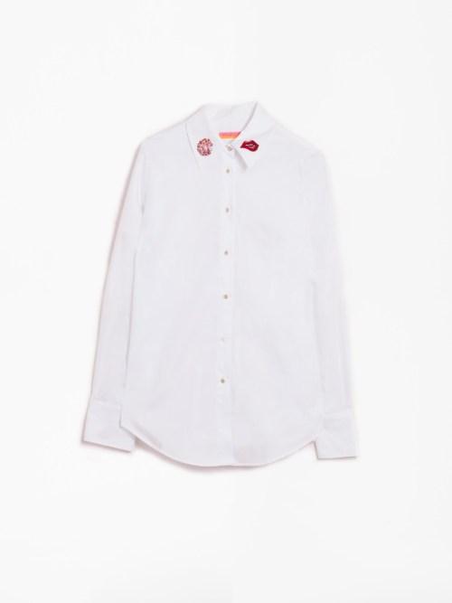 Mafalda Embroidery White Shirt