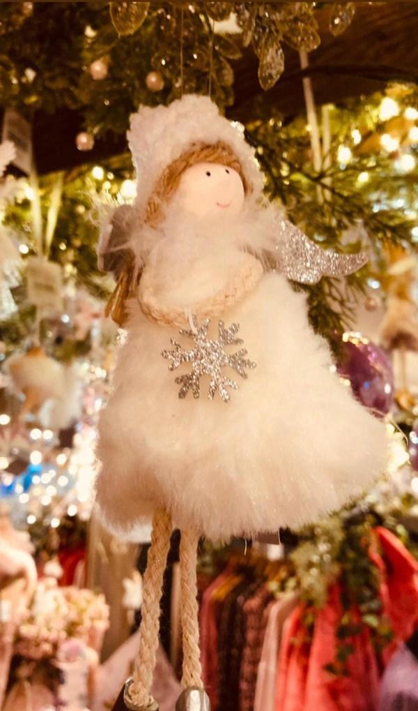 White Fairy Christmas Decoration