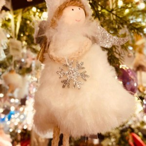 White Fairy Christmas Decoration