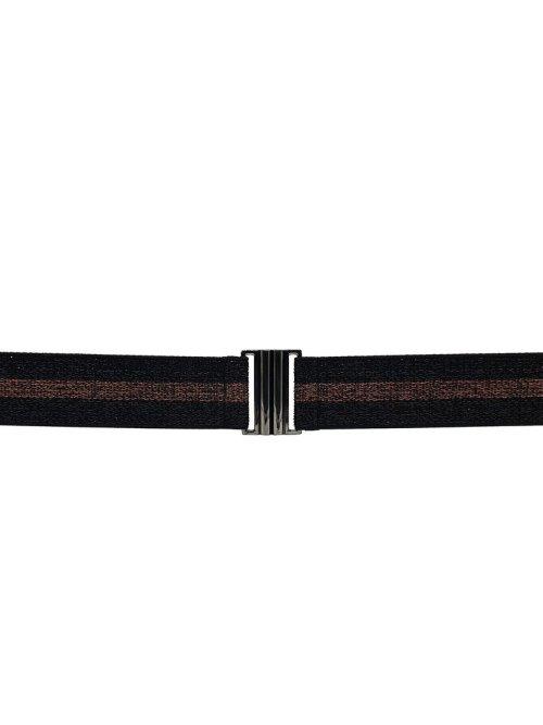 Lurex Belt in Black & Copper
