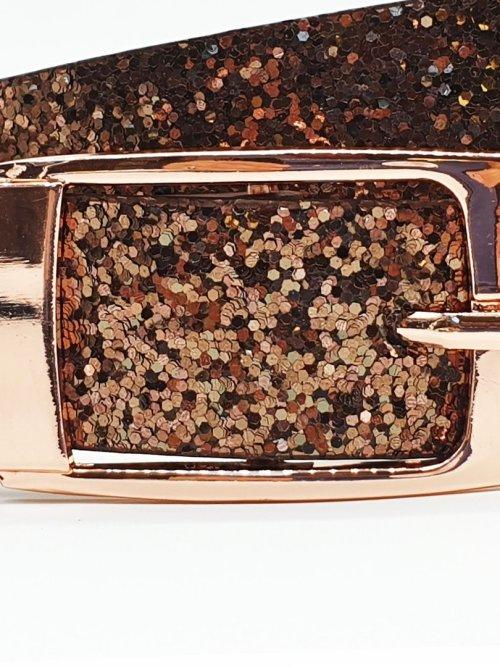 Hacienda Glitter Belt in Copper