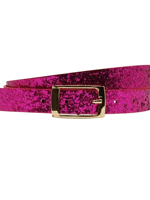 Hacienda Glitter Belt in Pink