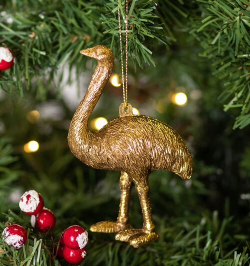 Gisela Graham Gold Acrylic Ostrich Tree Decoration
