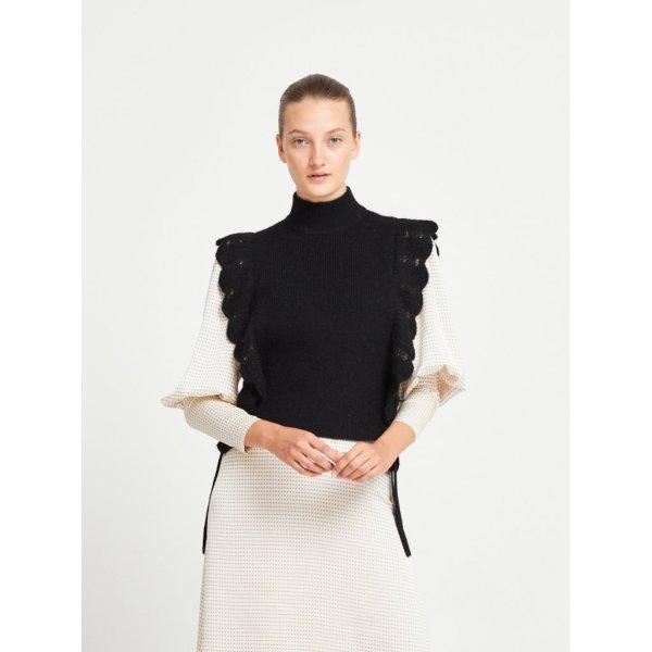 Parisa Esti Knit Vest in Black