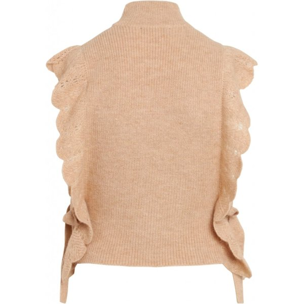 Parisa Esti Knit Vest in Beige
