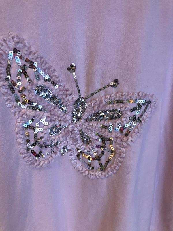 Sweater with an Embellished Butterfly