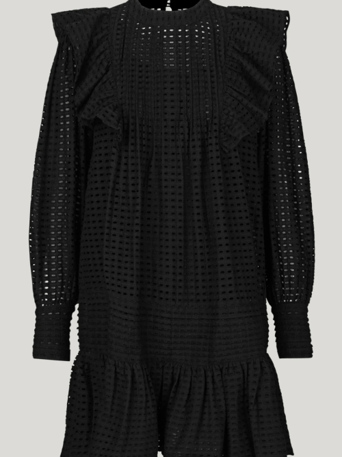 Broderie anglaise Dress in Black
