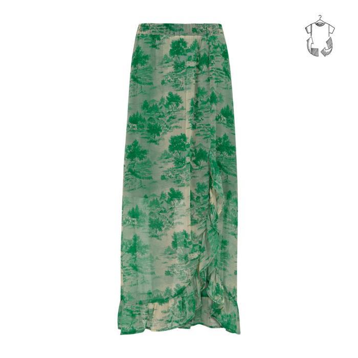 Skirt in Wallpaper Print
