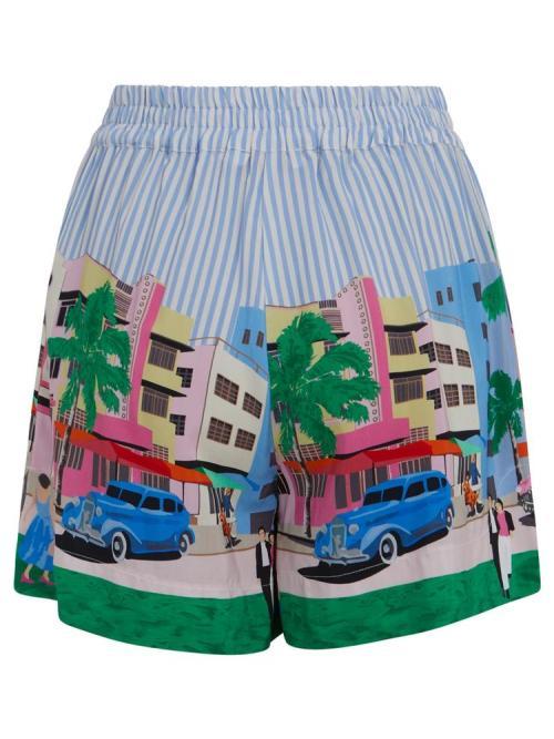 Shorts in Postcard Print