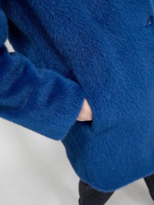 Plush Coat in Blue