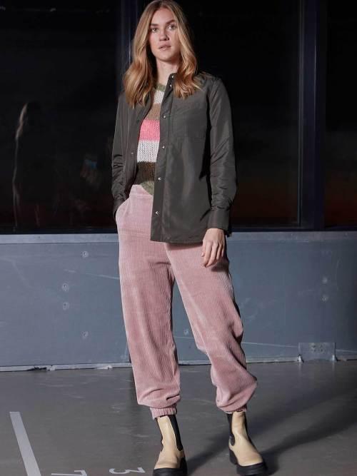 Corduroy Pants with Elastic in Rose