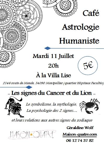 Café astro Cancer et Lion -Mardi 11 juillet