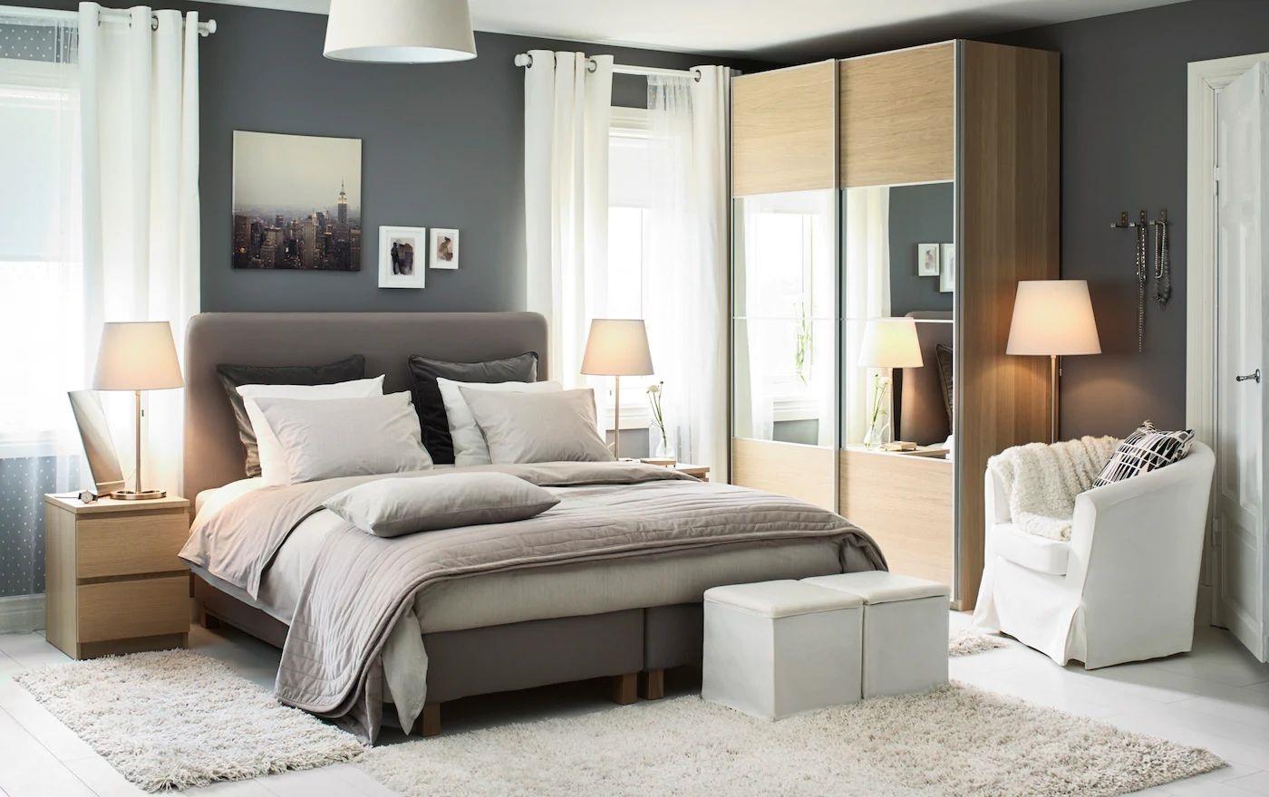 chambre grise et blanche 12
