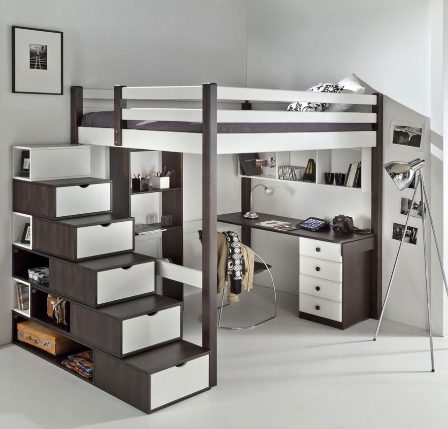 lit mezzanine avec rangement 12