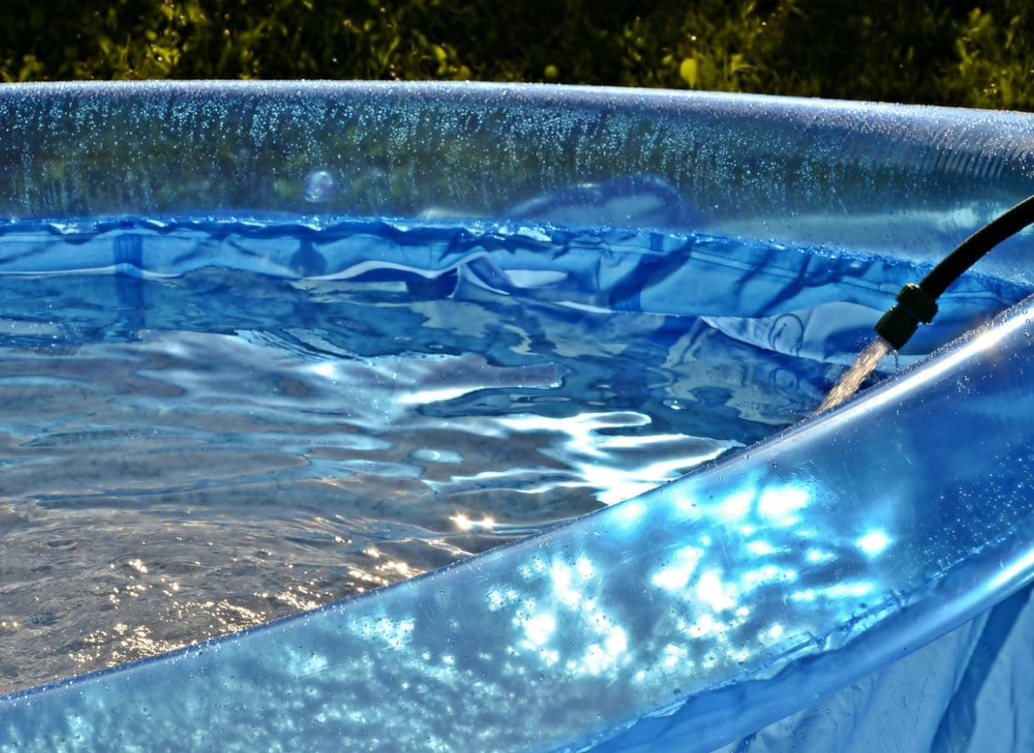 chauffer une piscine gonflable