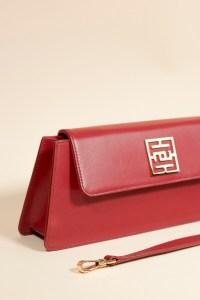baguette bag kenza red