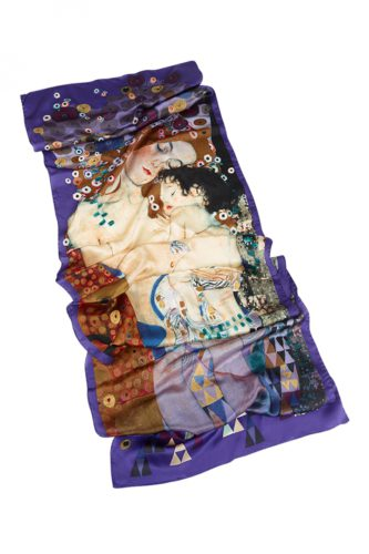Silk Scarf Gustav Klimt Design Mother and Child