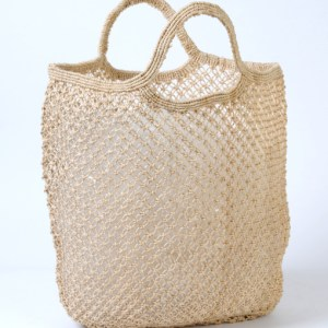 Jute macrame shopping bag natural