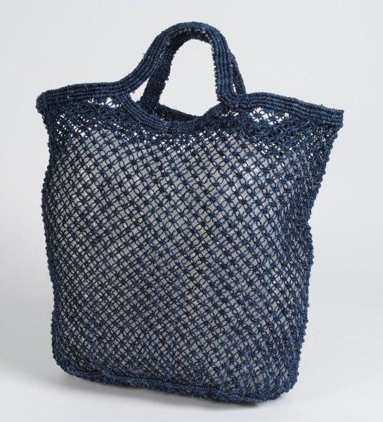 Jute shopping bag indigo