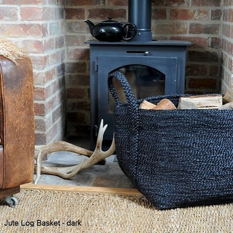 Ready for autumn jute log basket