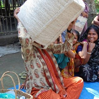 Training in quality control with artisans in rural Bangladesh