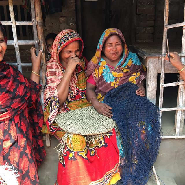 Today I visited these wonderful women making our jute macrame bags. Remote area, 200 miles South West of Dhaka, where over 600 women are currently employed. Over 50% are the sole bread winner in their family