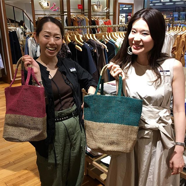 Our jute bags as seen today in downtown Kyoto