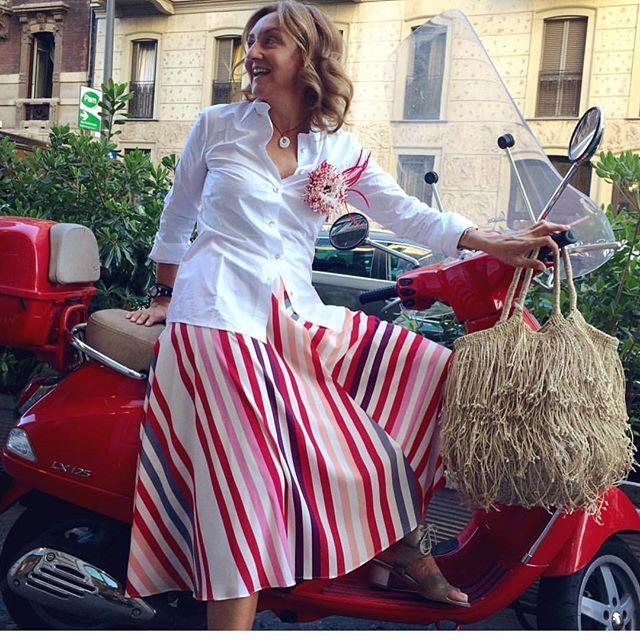 Regram from @mikithumb - summer jute fringe bags in Milan