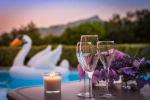 EtxeXuria-piscine Rhune coucher de soleil champagne