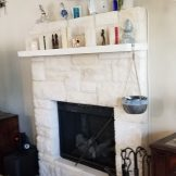 BEFORE - ODDLY LOCATED FIREPLACE
