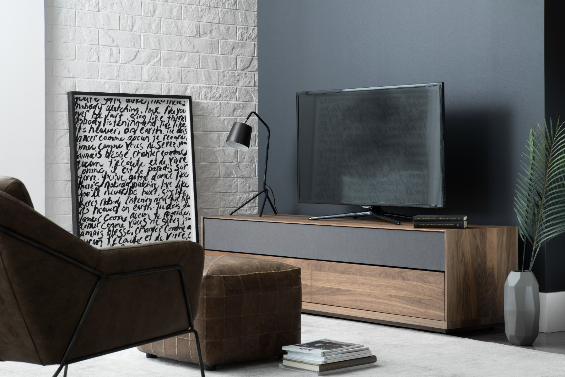 enzo solid wood tv stand maison corbeil