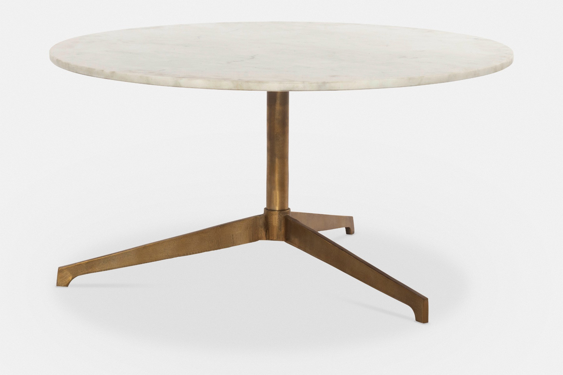 helen round coffee table with marble top maison corbeil