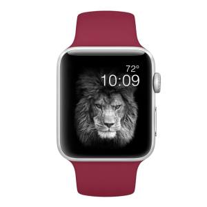 Band for Apple Watch Sport Band 38mm 42mm Rose Red Mens and Womans