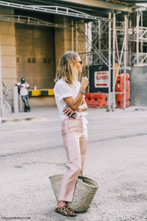straw-bag-pink-pants-street-style