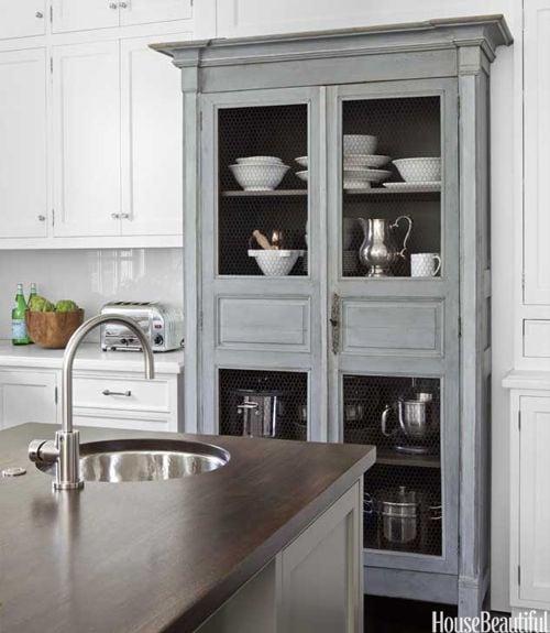 grey-and-white-kitchen-antique-armoire